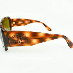 CHANEL Tortoise Brown & Swarovski CC Sunglasses kd